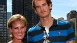 Andy Murray with his mother Judy