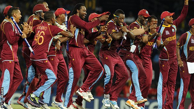 West Indies celebrate