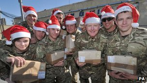 Troops in Afghanistan during Christmas