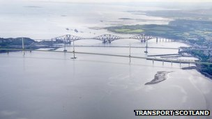 The new Forth Crossing from Port Edgar