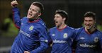 Ross Clarke scored the winning goal for Linfield against Glentoran at Windsor Park
