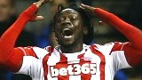 Kenwyne Jones scores for Stoke against Liverpool