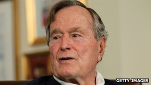 Former US President H W Bush. Photo: 29 March 2012