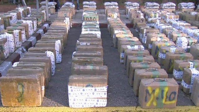 Hashish seized by Spanish police