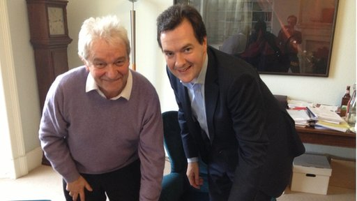 Sir Paul Nurse and George Osborne