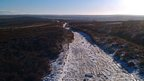 Icy track over Guisborough moor