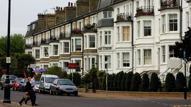 A row of houses in Southend