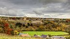 Richmond Castle under a cloudy autumn sky