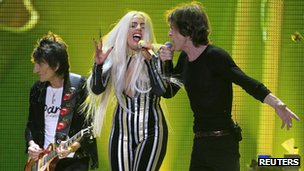 Lady Gaga and the Rolling Stones