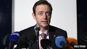 Flemish N-VA leader Bart De Wever