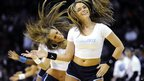 Lady cat cheerleaders in Charlotte, US - Wednesday 26 December 2012