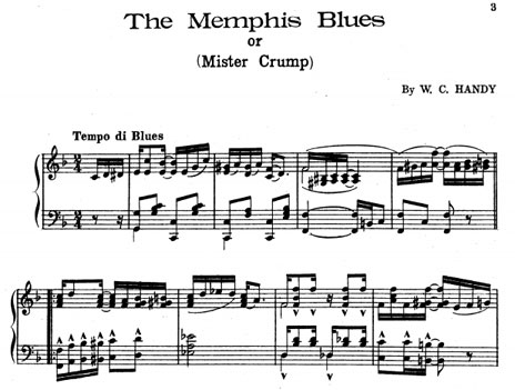 Memphis blues - sheet music