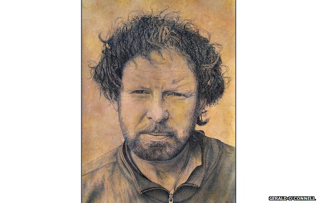 Gerald O'Connell drew this picture of a homeless man named Michael.