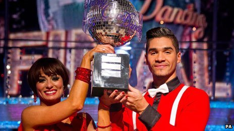 Strictly Come Dancing 2012 winners Flavia Cacace and Louis Smith