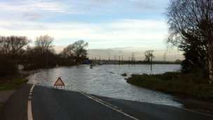 Flooding near Dunham Bridge