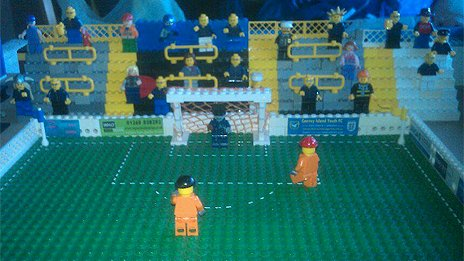 Lego version of Canvey Island FC by Jason Dorrington