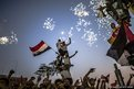 Egyptians celebrate the election of their new president Mohammed Morsi in Tahrir Square, Cairo, Egypt