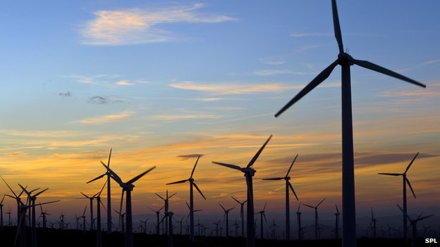 wind turbines california