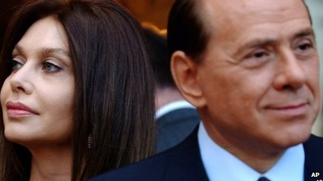 Veronica Lario and ex-husband Silvio Berlusconi