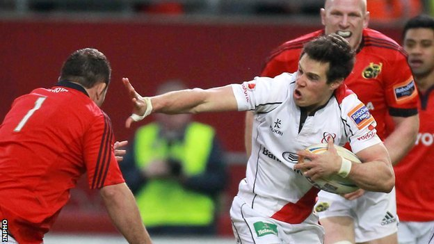 Adam D'Arcy in action against Munster