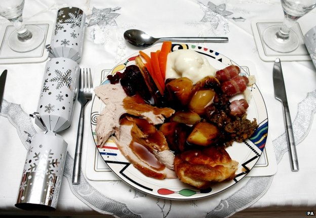 The average Christmas lunch in the UK