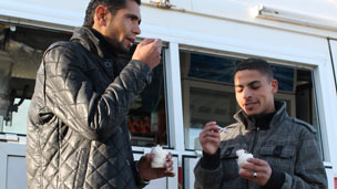 Ice creams eaters in Tripoli