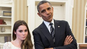 McKayla Maroney and Barack Obama