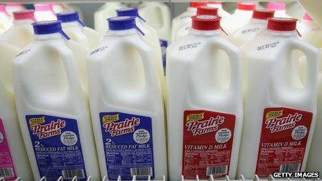Milk bottles