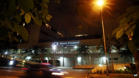 The Mount Elizabeth hospital in Singapore, where the victim was being treated