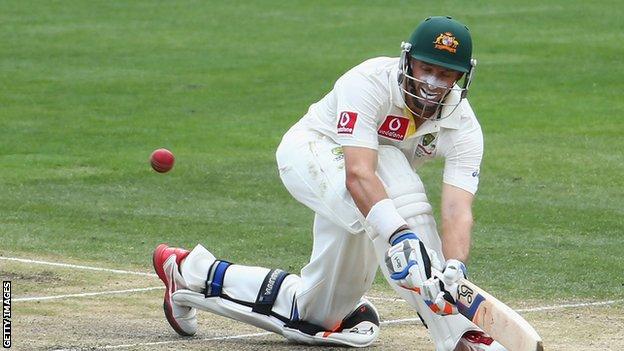 Australia batsman Mike Hussey