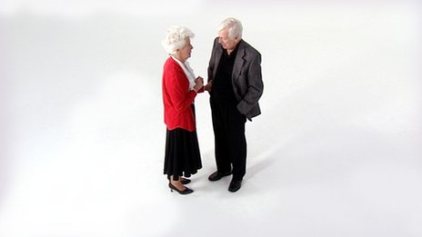 old couple talking