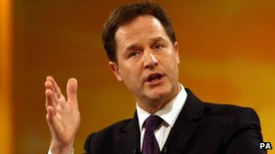 Lib Dem leader Nick Clegg