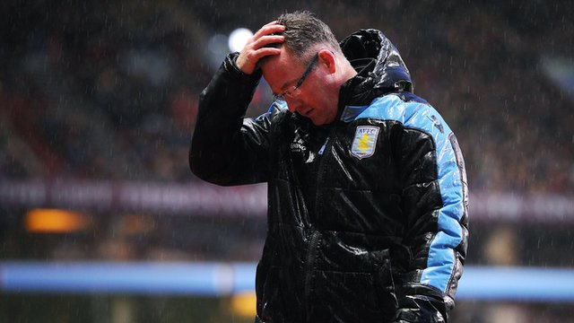 Paul Lambert during Aston Villa's match against Wigan