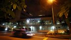 Vehicles outside Mount Elizabeth hospital in Singapore (29 Dec 2012)
