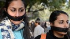 Indian students protest in Delhi, India (29 Dec 2012)