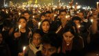 Indians hold a candlelit vigil in Delhi 