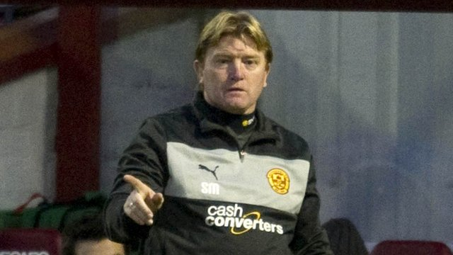 Motherwell manager Stuart McCal
