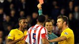 Stoke's Steven Nzonzi is sent off
