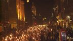The Torchlight procession in 2000