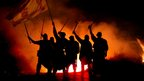 Clansmen take part in the Torchlight procession in 2002-03