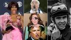 Whitney Houston, Frank Carson, Davy Jones, James Whitaker and Marie Colvin