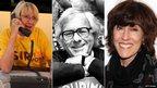 (l-r) Kathryn Joosten, Ray Bradbury, Nora Ephron