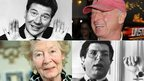 (l-r) Max Bygraves, Tony Scott, Marvin Hamlisch, Nina Bawden