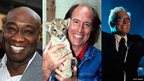 (l-r) Michael Clarke Duncan, Terry Nutkins, Andy Williams