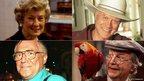 (clockwise) Dinah Sheridan, Larry Hagman, Clive Dunn, Bill Tarmey