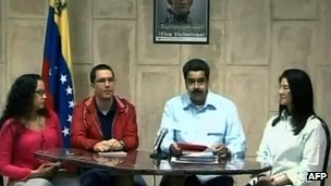Nicolas Maduro makes address from Havana