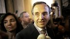 New Democracy leader Antonis Samaras on election night in Athens, 17 June