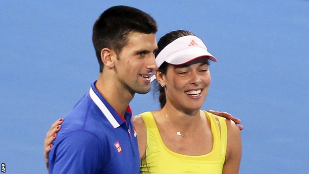 Novak Djokovic and Ana Ivanovic
