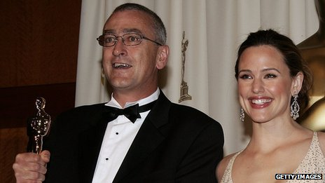 Michael Hopkins with actress Jennifer Garner at the 2006 Oscars