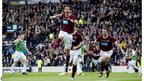 Ryan McGowan scores Hearts' fourth goal against Hibernian in the Scottish Cup final